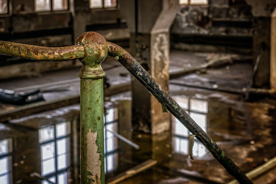 Barandilla oxidada