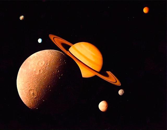 Los satélites de Saturno