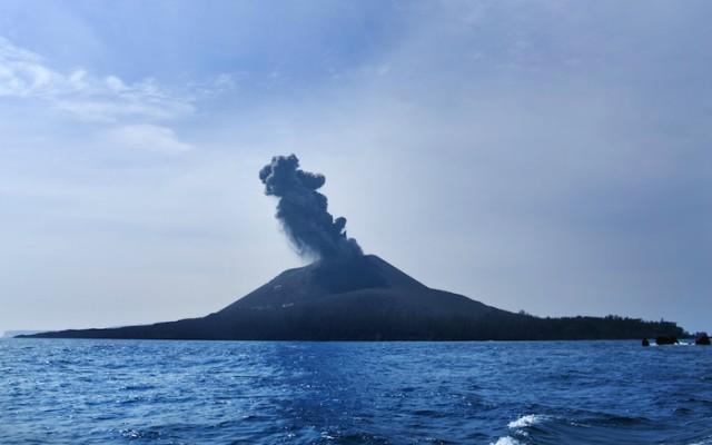 El volcán Krakatoa