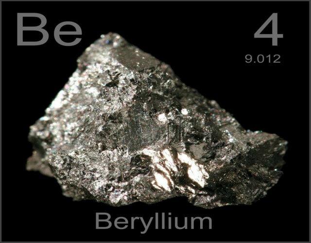 características del berilio