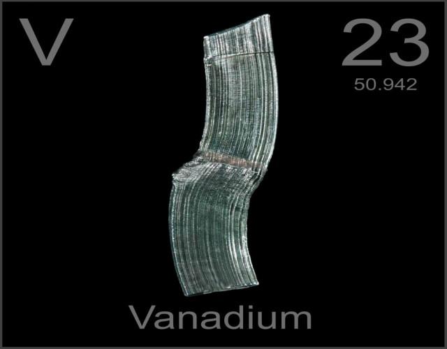 características del vanadio