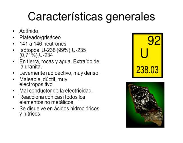 Características del Uranio