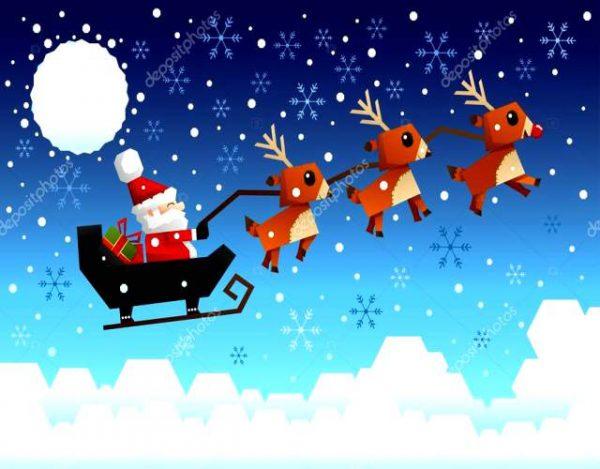 El trineo de Papa Noel y su historia