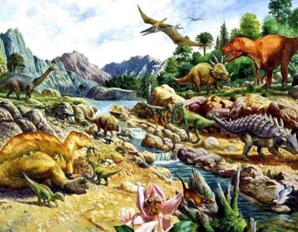 La era mesozoica o era secundaria