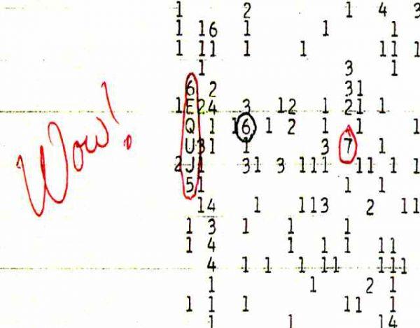 La señal wow, la prueba de inteligencia extraterrestre