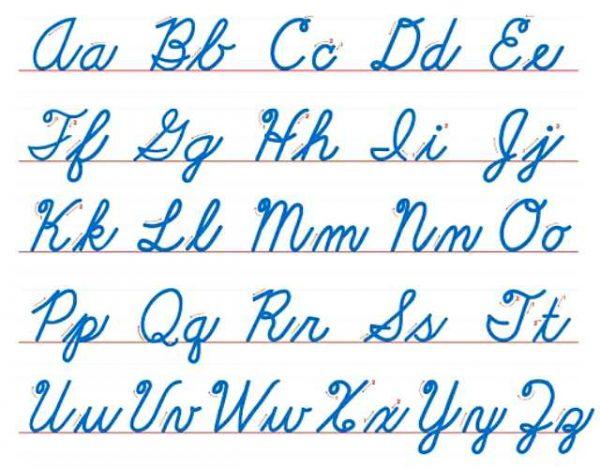 Por qué se enseña a escribir con letra cursiva