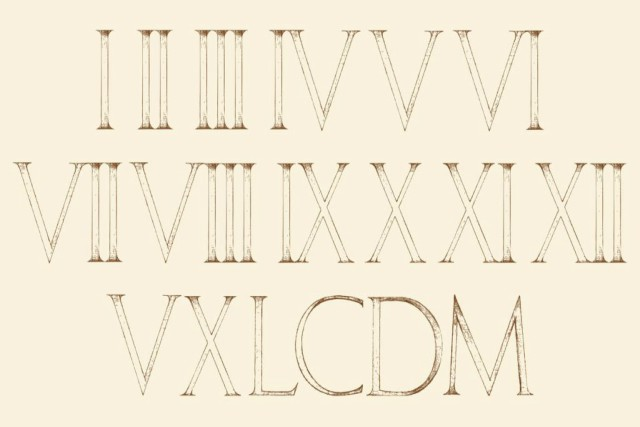 por qué en los números romanos no hay cero