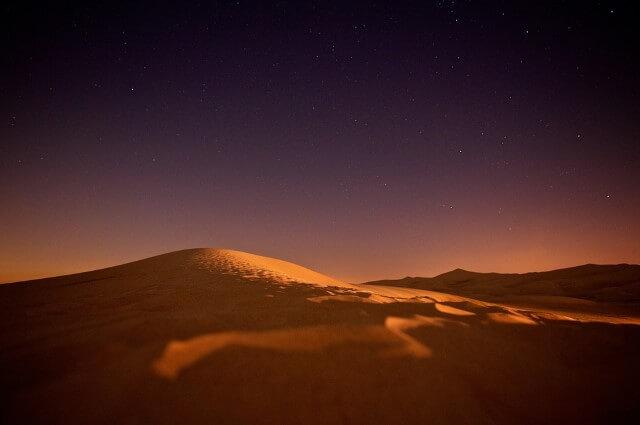 desierto es frío