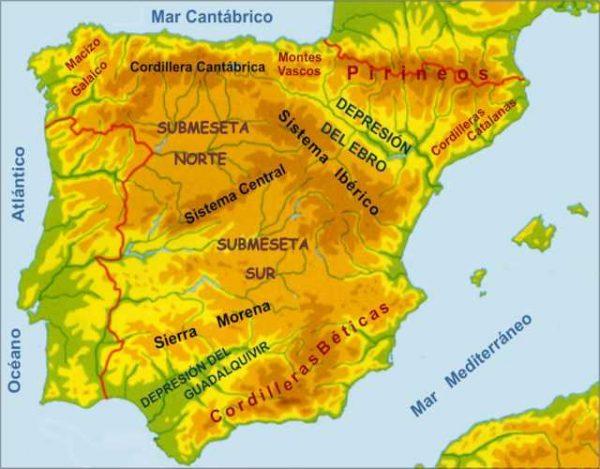 Cuáles son las principales cordilleras de España
