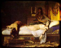 cómo murió Cleopatra