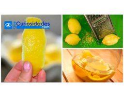 Cascara de limón para que sirve